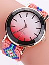 XU Women\'s  Bead Weaving Colorful Fashion Casual Wrist Watch
