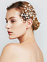 웨딩 파티 여성의 진주 꽃 머리 보석 머리핀 (6 세트)