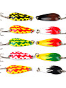 """10 pcs Fishing Hooks Fishing Lures Metal Bait Spoons g/Ounce,45 mm/1-3/4"""" inch,Cooper Alloy Sea Fishing Fly Fishing Bait Casting Ice"""
