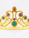 Halloween Christmas Birthday Queen Crown Mounted Gem Jewel Head Gear Cosplay Carnaval Masquerade Party Costume