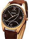 남성용 드레스 시계 손목 시계 독특한 창조적 인 시계 중국어 석영 모조 다이아몬드 PU 밴드 캐쥬얼 블랙 브라운