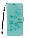 Capinha Para Samsung Galaxy S8 Plus S8 Porta-Cartao Carteira Com Suporte Flip Com Relevo Capa Protecao Completa Borboleta Flor Rigida PU