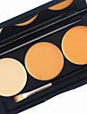pro 3 цвет румяна румяна контурный комплект 2in1 консилер бронзер основа яркий матовый крем макияж палитра щетка зеркало
