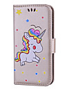Pour iPhone 8 iPhone 8 Plus Etuis coque Porte Carte Clapet Motif Coque Integrale Coque Licorne Dur Cuir PU pour Apple iPhone 8 Plus