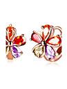 여성용 링 귀걸이 패션 지르콘 Flower Shape 보석류 제품 결혼식 일상 캐쥬얼 이브닝 파티