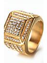Муж. Классические кольца Стразы Мода Винтаж Pоскошные ювелирные изделия Elegant Bling Bling Титановая сталь Бижутерия Бижутерия Назначение