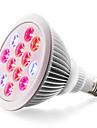 1шт 900lm E26 / E27 Растущая лампочка 24 Светодиодные бусины Высокомощный LED Синий Красный 85-265V