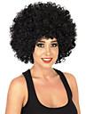 Perruque Synthetique Mi Longue Boucle Noir de jais Perruque afro-americaine Perruque de Cosplay Perruque Deguisement