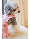 Собака Комбинезоны Одежда для собак Хлопок Зима Весна/осень На каждый день Английский Оранжевый Розовый Для домашних животных