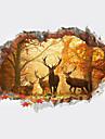 Eläimet 3D Kasvitiede Wall Tarrat Lentokone-seinätarrat 3D-seinätarrat Koriste-seinätarrat 3D, Muovi Kodinsisustus Seinätarra Seinä