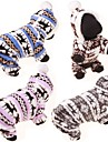 Dog Hoodie Jumpsuit Sweaters Winter Clothing Dog Clothes Casual/Daily Reindeer Gray Coffee Blue Pink Leopard Costume For Pets