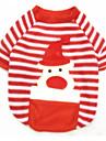 Собака Толстовка Одежда для собак Терилен Весна/осень Зима Рождество Северный олень Красный Для домашних животных