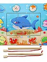 조립식 블럭 직쏘 퍼즐 나무 퍼즐 낚시 장난감 교육용 장난감 장난감 직사각형 광장 물고기 용품 DIY 아동 남자아이 여자아이 조각
