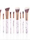 10pcs Professionnel Pinceaux a maquillage ensembles de brosses Poil Synthetique Rouge a levres / Sourcil / Le fard a paupieres
