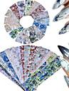 16 Adesivos para Manicure Artistica Purpurina Estampado Acessorios Tradicional/Classico Efeito 3D Artigos DIY pecas Acessorios Adesivo