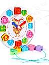 Zabawki matematyczne Drewniana zabawka zegarowa Gadżety antystresowe Kura Zegar Zrób to Sam Edukacja Drewno 1 pcs Unisex Zabawki Prezent