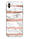 Pour iPhone X iPhone 8 Etuis coque Transparente Motif Coque Arriere Coque Marbre Flexible PUT pour Apple iPhone X iPhone 8 Plus iPhone 8