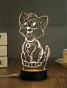 1 Set, Popular Home Acrylic 3D Night Light LED Table Lamp USB Mood Lamp Gifts, Kitten