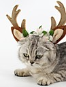 Cat Dog Hair Accessories Dog Clothes Party Cosplay Christmas Reindeer Brown Costume For Pets
