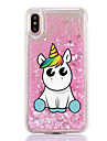 For iPhone X iPhone 8 Case Cover Flowing Liquid Transparent Pattern Back Cover Case Unicorn Cartoon Hard Plastic for Apple iPhone X