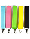 Dog Leash Portable Solid Colored Nylon Black Yellow Green Blue Pink