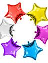6pcs / lot 5inch ballon etoile multicolore 5 petit ballon en etoile mignon