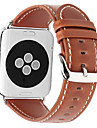 pour Apple Watch series 3 2 1 bracelet en cuir veritable bracelet 42mm 38mm