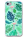 Pour iPhone 7 iPhone 7 Plus Etuis coque Transparente Motif Coque Arriere Coque Flamant Animal Flexible PUT pour Apple iPhone 7 Plus