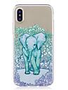 Para iPhone X iPhone 8 Plus Case Tampa Estampada Capa Traseira Capinha Mandala Elefante Macia PUT para Apple iPhone X iPhone 8 Plus