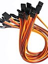 3pin 20mm servo cables macho a macho (10 pack)