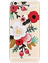 Para iPhone 7 iPhone 7 Plus Case Tampa Ultra-Fina Estampada Capa Traseira Capinha Flor Macia PUT para Apple iPhone 7 Plus iPhone 7 iPhone