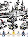 SHIBIAO Конструкторы 1090 pcs Своими руками Авианосец Катер Военные корабли Боец Полиция Детские Взрослые Мальчики Подарок