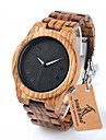 Men\'s Quartz Wrist Watch Chinese Chronograph / Water Resistant / Water Proof Wood Band Charm / Luxury / Casual / Elegant / Fashion Brown