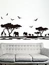 Zvířata Módní Samolepky na zeď Samolepky na stěnu Ozdobné samolepky na zeď, Plastický Home dekorace Lepicí obraz na stěnu Stěna