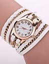 Жен. Модные часы Часы-браслет Повседневные часы Китайский Кварцевый PU Группа Богемные Повседневная Элегантные часы Черный Белый Синий
