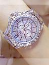 Žene Luxury Watches Diamond Watch Zlatni sat Japanski Kvarc Nehrđajući čelik Srebro / Zlatna / Rose Gold 30 m Casual sat Analog dame Šarm Moda - Zlato Pink Rose Gold