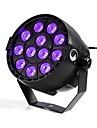 U\'King ZQ-B187B 12W 12 LEDs Purple Color DMX Sound Activated Par Stage Lighting for Disco Party Club KTV Wedding