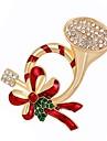 Mulheres Broches Diamante sintetico Liga Outros Dourado Joias Para Natal Diario