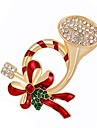Mulheres Broches Diamante sintetico Liga Outros Joias Para Natal Diario