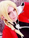 Perucas de Cosplay Fullmetal Alchemist Edward Elric Amarelo Medio Anime Perucas de Cosplay 45 CM Fibra Resistente ao Calor Masculino