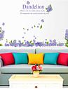 Мода Цветочные мотивы/ботанический Наклейки Простые наклейки Декоративные наклейки на стены, пластик Украшение дома Наклейка на стену