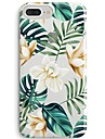 Capinha Para Apple iPhone X / iPhone 8 Ultra-Fina / Transparente / Estampada Capa traseira Arvore / Flor Macia TPU para iPhone 8 Plus / iPhone 8 / iPhone SE / 5s