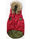 Собака Плащи Толстовки Одежда для собак Хлопок Мех Зима Повседневный / Sporty Однотонный Красный Для домашних животных