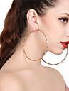 Women\'s Drop Earrings Hoop Earrings Sexy Oversized Alloy Circle Jewelry For Party Street