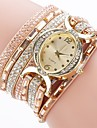 Femme Montre Tendance Bracelet de Montre Montre Diamant Simulation Chinois Quartz Imitation de diamant Polyurethane Bande Charme