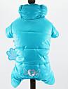 Комбинезоны Одежда для собак Хлопок Зима Весна/осень На каждый день Однотонный Темно-синий Красный Зеленый Синий Розовый Для домашних