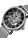 Men\'s Women\'s Skeleton Watch Military Watch Mechanical Watch Japanese Automatic self-winding Calendar / date / day Chronograph Water