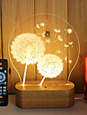 1set 3D Nightlight Dimmable Creative Color-Changing Decorative LED Light 5V Artistic LED Modern/Contemporary