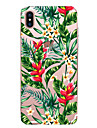 Coque Pour Apple iPhone X iPhone 8 iPhone 6 iPhone 7 Plus iPhone 7 Ultrafine Motif Coque Fleur Flexible TPU pour iPhone X iPhone 8 Plus
