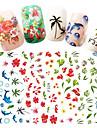 1 pcs Klistermärken nagel konst manikyr Pedikyr Moderiktig design Blomma / Nail Decals Dagligen